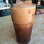 Thai iced tea with soy coconut milk