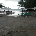 infinity pool early in the morning