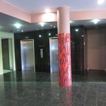 The lobby and elevator