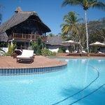 La reception e la piscina