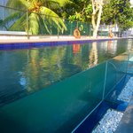 Glass fronted lap pool