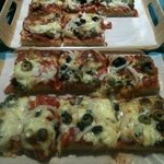 very tasty pizza slices