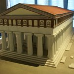 Mock-up of the Athena temple (today Duomo)