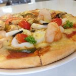 Enjoy in house pizza