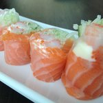 Salmon in Rice Roll