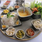 Lunch - Yum woon sean (similar to laksa)