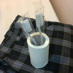 Leftover tissue paper