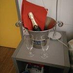 champagne offerto dal hotel