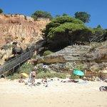 escalier pour la petite plage