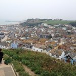 View of old Hastings from hill