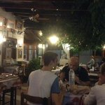 Simos Taverna in the evening - love the vine inside the taverna
