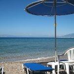 La spiaggia riservata dell'hotel