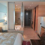 Sliding doors of bathroom and the room-entrance