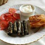 Breakfast plate at Aravan Evi Restaurant