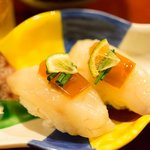 フグ寿司の上には煮こごりが