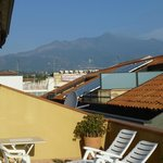 Mount Etna from our balcony