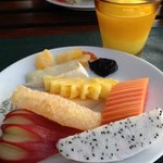breakfast, choices of fruits