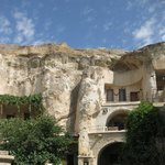 The hotel carved into caves