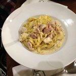 Chicken Carbonara + Tagliatele