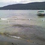 Private sandy beach on beautiful Lake George