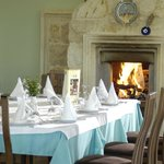 Dining by the Fire Corner at the A'la Carte Restaurant