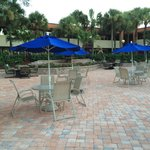 Outside pool and dining area.  Restaurant brings your order anywhere on the grounds or to your r