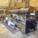 The beautiful wooden boiler.