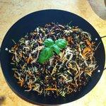 Riso Venere granchio,zucchine e carote!