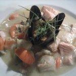 seafood chowder entree