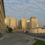 View to Gloria Hotel from Qatar National Bank