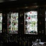 the bar glass window