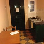 The kitchen in a 1 bedroom apartment