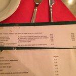 Items in English menu 1euro more expensive than in Spanish menu