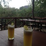 pineapple juice with view