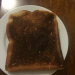 The burnt toast I was given.