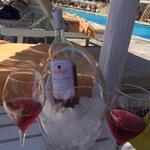 Rosé am Pool