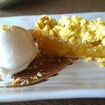Best dessert - Pineapple crumble with coconut sorbet