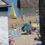 View from the boatyard, by the Cliff Path Cafe, Gorran Haven Cornwall
