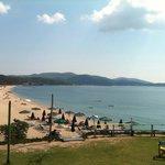 tristinika beach view from ethnic beach bar near the hotel.