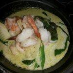 Gambas Curry Verde