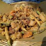 Fritto de pesce e verdure