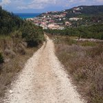 The path from SS up to the Akrotiri Cafe and Gravia - worth it!