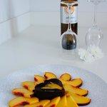 Welcome gift: delicious Santorini wine and dessert!