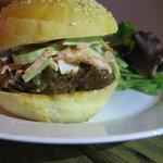 petit burger de jarret de boeuf et coleslaw