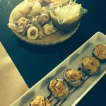 calamars fris et champignons farcis chorizo fromage