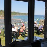 Cliff Path Cafe view from inside