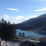 view from our balcony/bedroom. looking towards queenstown town centre