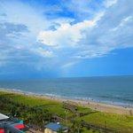 Rainbow looking north from balcony
