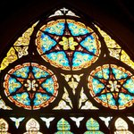 The award winning stained glass