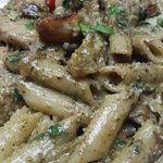 Penne genovese.  Tasty and generous